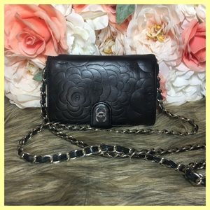 Authentic CHANEL Lamb Caviar Wallet/ WOC